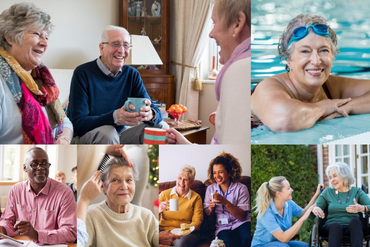 Adult care and support collage