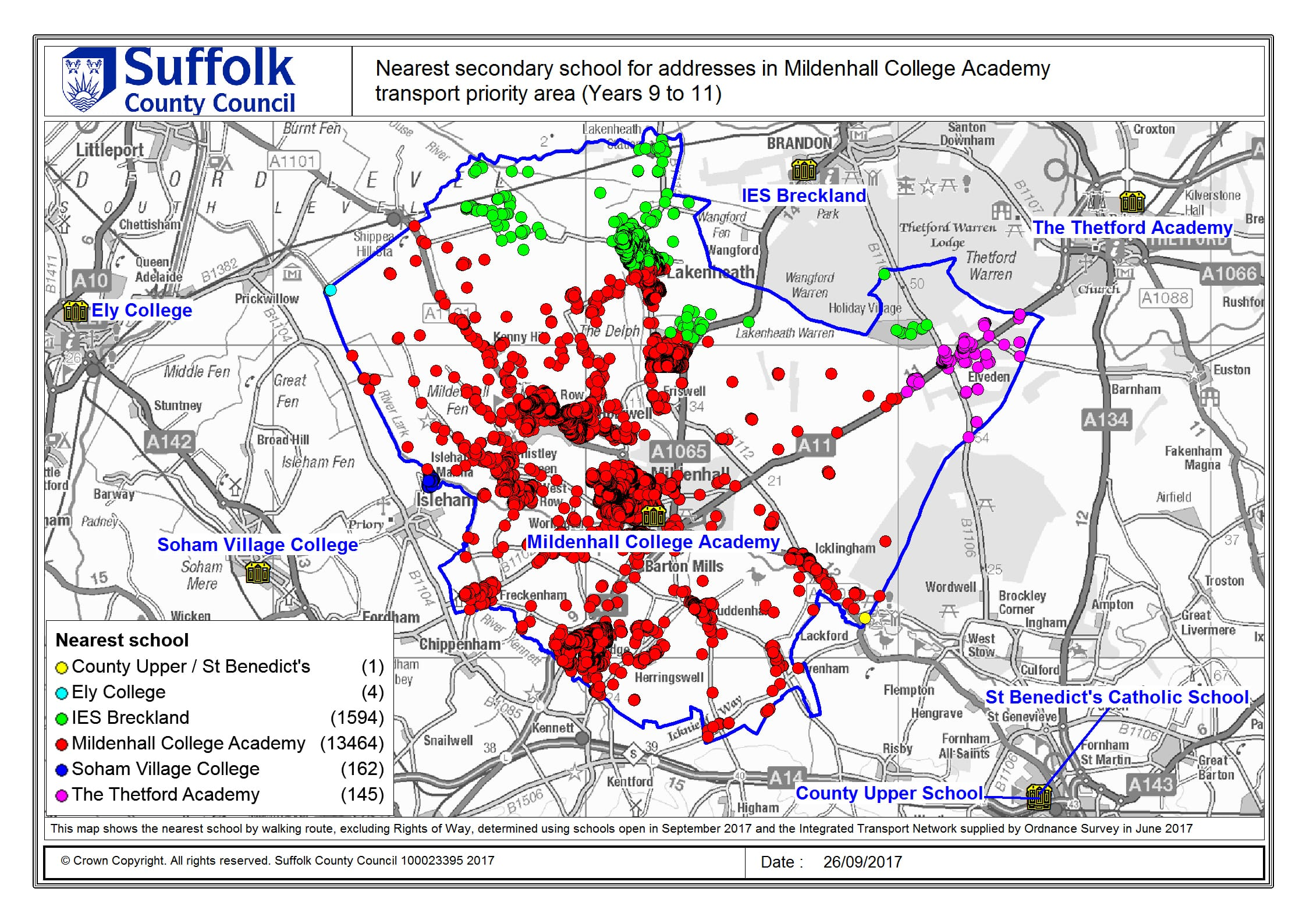 Mildenhall England Map.School And Post 16 Travel Consultation Suffolk County Council