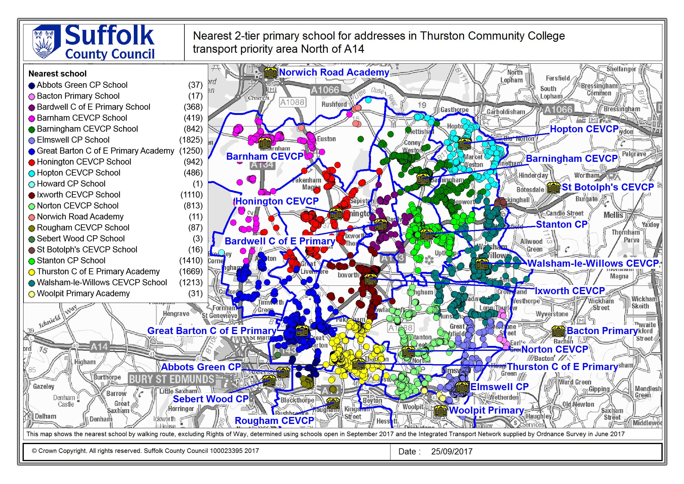 Suffolk County England Map.School And Post 16 Travel Consultation Suffolk County Council