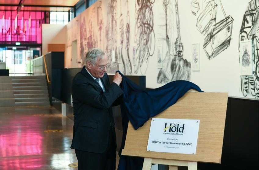 His Royal Highness The Duke of Gloucester opening The Hold