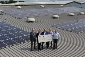 Further £700k available in green grants as Suffolk print firm unveils solar panel installation