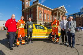 Charity runners from East Anglian Air Ambulance meet Jake Wightman to launch Simplyhealth Great East Run